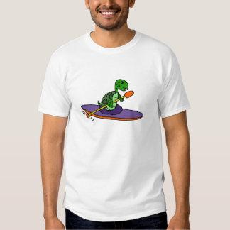 Funny Kayaking Sea Turtle T-Shirt