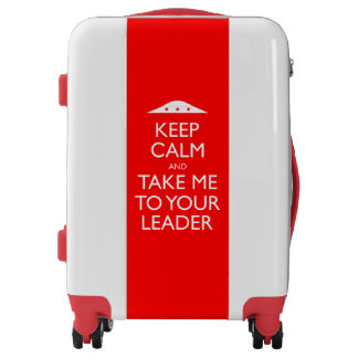 Funny Keep Calm Alien Invasion Luggage