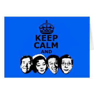 Funny keep calm and carry on card