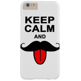 Funny Keep calm and mustache Barely There iPhone 6 Plus Case