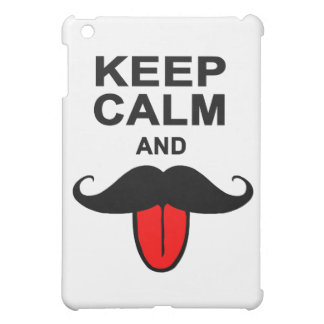 Funny Keep calm and mustache iPad Mini Covers