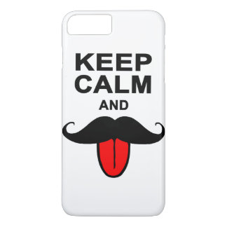 Funny Keep calm and mustache iPhone 8 Plus/7 Plus Case