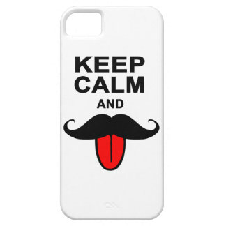 Funny Keep calm and mustache iPhone SE/5/5s Case