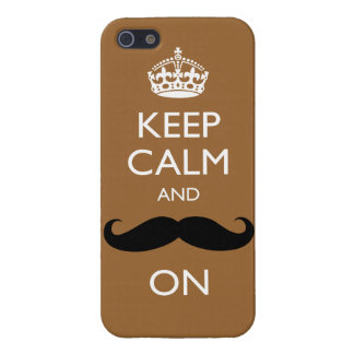 Funny Keep Calm and Mustache On iPhone 5 Case