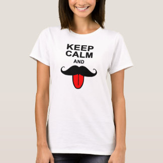Funny Keep calm and mustache T-Shirt