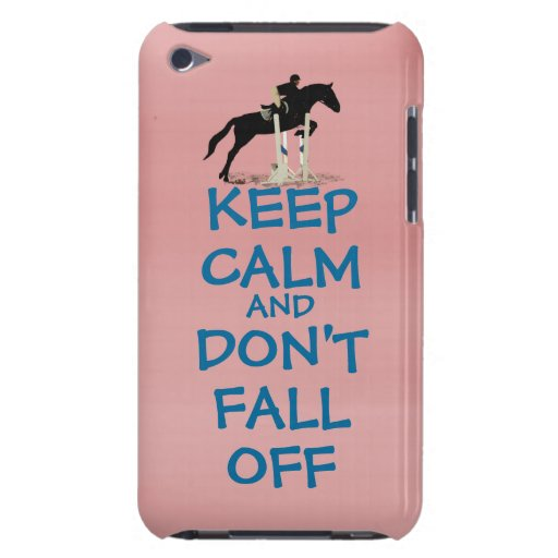 Funny Keep Calm & Don't Fall Off Horse Barely There iPod Covers