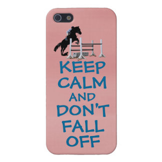 Funny Keep Calm & Don't Fall Off Horse Case For iPhone SE/5/5s