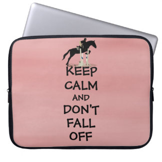 Funny Keep Calm & Don't Fall Off Horse Computer Sleeve