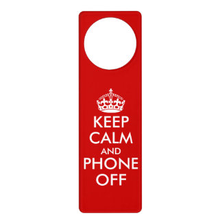 Funny Keep Calm door hangers for office