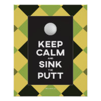 Funny Keep Calm Golf Poster