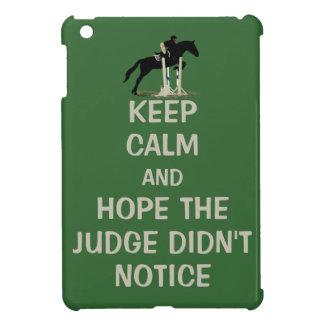 Funny Keep Calm Horse iPad Mini Case