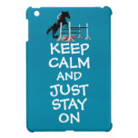 Funny Keep Calm & Just Stay On Horse iPad Mini Cover