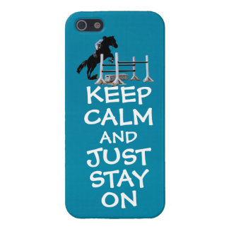 Funny Keep Calm & Just Stay On Horse iPhone SE/5/5s Cover