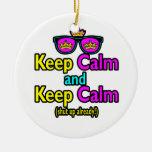 Funny Keep Calm Meme Sarcasm Shut Up Already Christmas Tree Ornaments