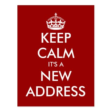 keepcalmmaker Funny keep calm moving postcard for new address