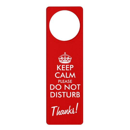 Funny Keep Calm Please Do Not Disturb Door Hangers