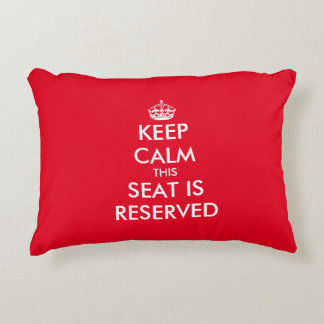 Funny keep calm reserved seating throw pillow