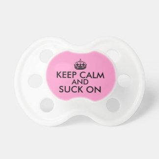 Funny Keep Calm Suck On Pacifier for Babies Custom
