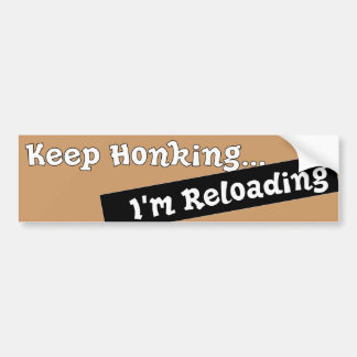Funny Keep Honking Bumper sticker auto Humorous