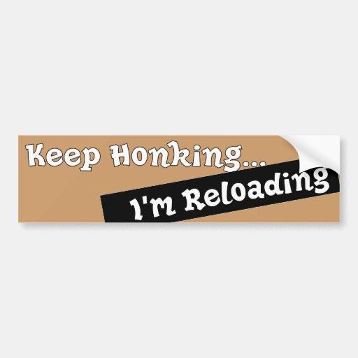 Funny Keep Honking Bumper sticker auto Humorous Car Bumper Sticker