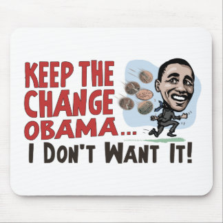 Funny Keep the Change Obama Gear Mouse Pad