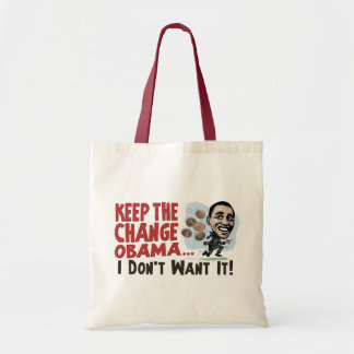 Funny Keep the Change Obama Gear Tote Bag