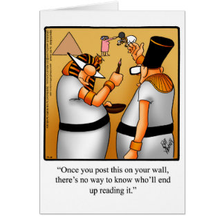 Funny Keeping In Touch Blank Greeting Card