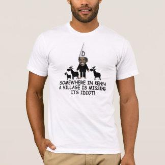 Funny Kenyan village idiot anti Obama T-Shirt