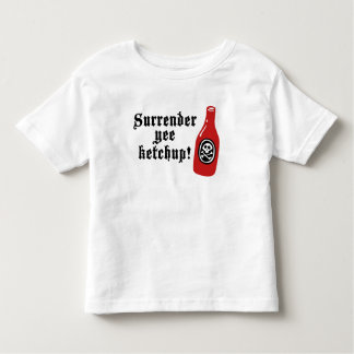 Funny Ketchup Pirate Toddler T-shirt