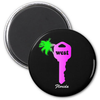 Funny Key West 2 Inch Round Magnet