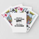 Funny keyboard designs card decks