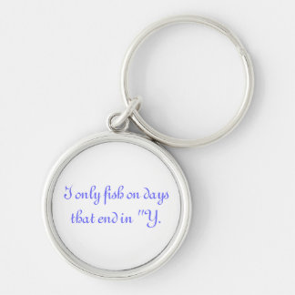 Funny Silver-Colored Round Keychain