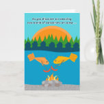 "Funny Kids at Summer Camp Fish Roasting Weenies Card<br><div class=""desc"">Let your child know that you&#39;re hoping that he/she is having an unbelievably great time at summer camp with this funny greeting card that shows two yellow fish having a weenie roast at the bottom of a lake. Sure to get a smile and remind your child how much he/she is...</div>"