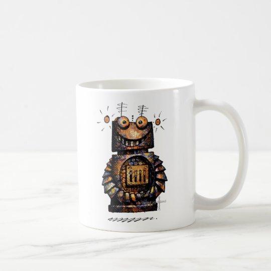 Funny Kid's Cute Robot Art Coffee Mug