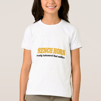 Funny Kids French Horn Tee Shirt