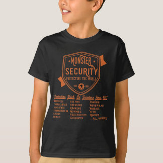 Funny Kids Halloween - Monster Security T-Shirt