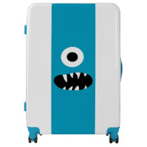 Funny Kids Monsters Face Blue One Eyed Monster Luggage