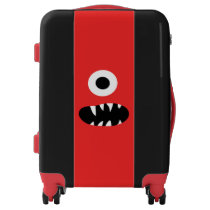 Funny Kids Monsters Face Red One Eyed Monster Luggage