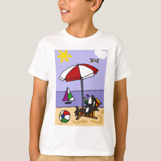 Funny Killer Whale at the Beach Art T-Shirt