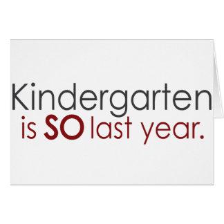 Funny Kindergarten Grad Card