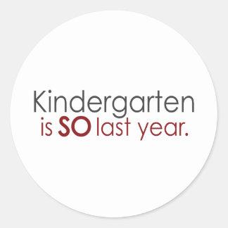 Funny Kindergarten Grad Classic Round Sticker