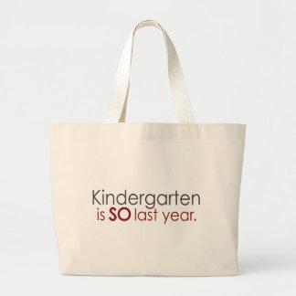 Funny Kindergarten Grad Large Tote Bag