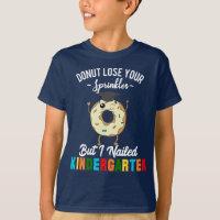 f11ae237 Women's T-Shirts. Funny Kindergarten Graduate Kids Donut Graduation