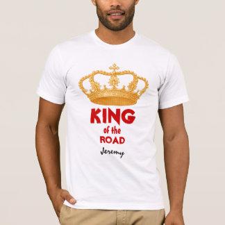 Funny King of Road Custom Name Gold Crown V34S T-Shirt