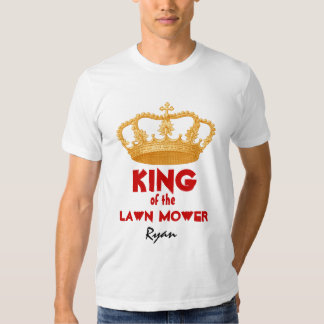 Funny King of the Lawn Mower with Gold Crown V29 T Shirt