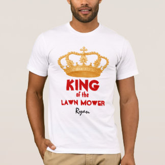 Funny King of the Lawn Mower with Gold Crown V29 T-Shirt