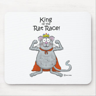 Funny King of the Rat Race Boss Boss's Day Mousepads