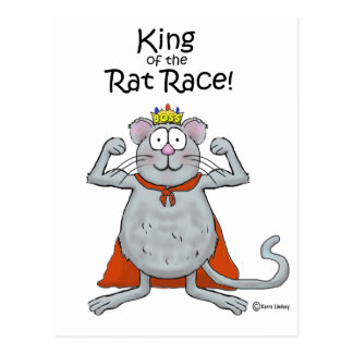 Funny King of the Rat Race Boss Boss's Day Postcard