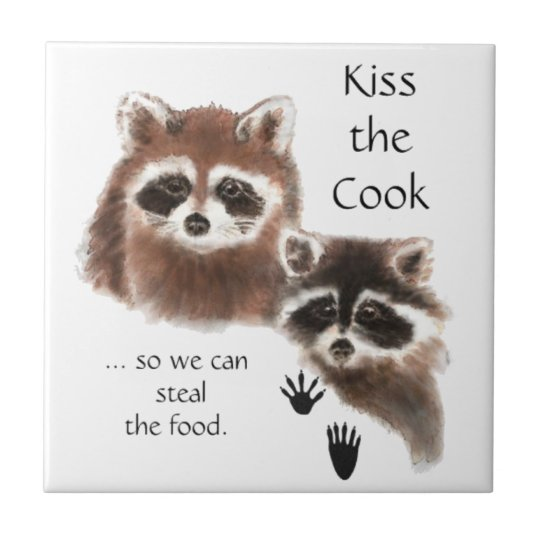 Funny, Kiss the Cook, Raccoons, Steal the Food Tile
