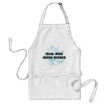 Funny kitchen apron | Real men wash dishes